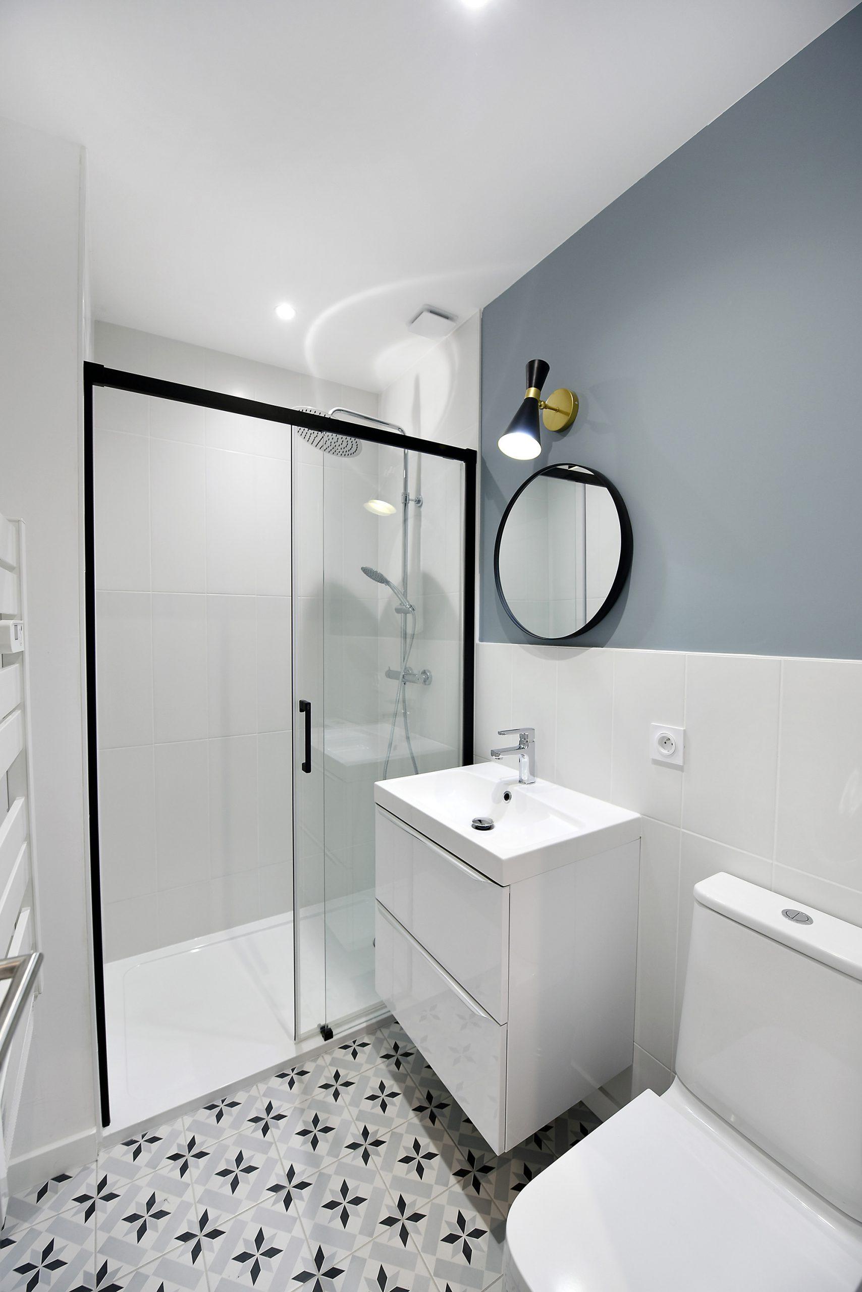 petite salle de bain opitmisé pour colocation
