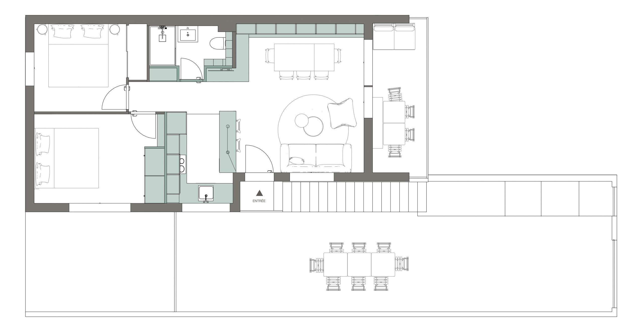 le plan de l'appartement après rénovation
