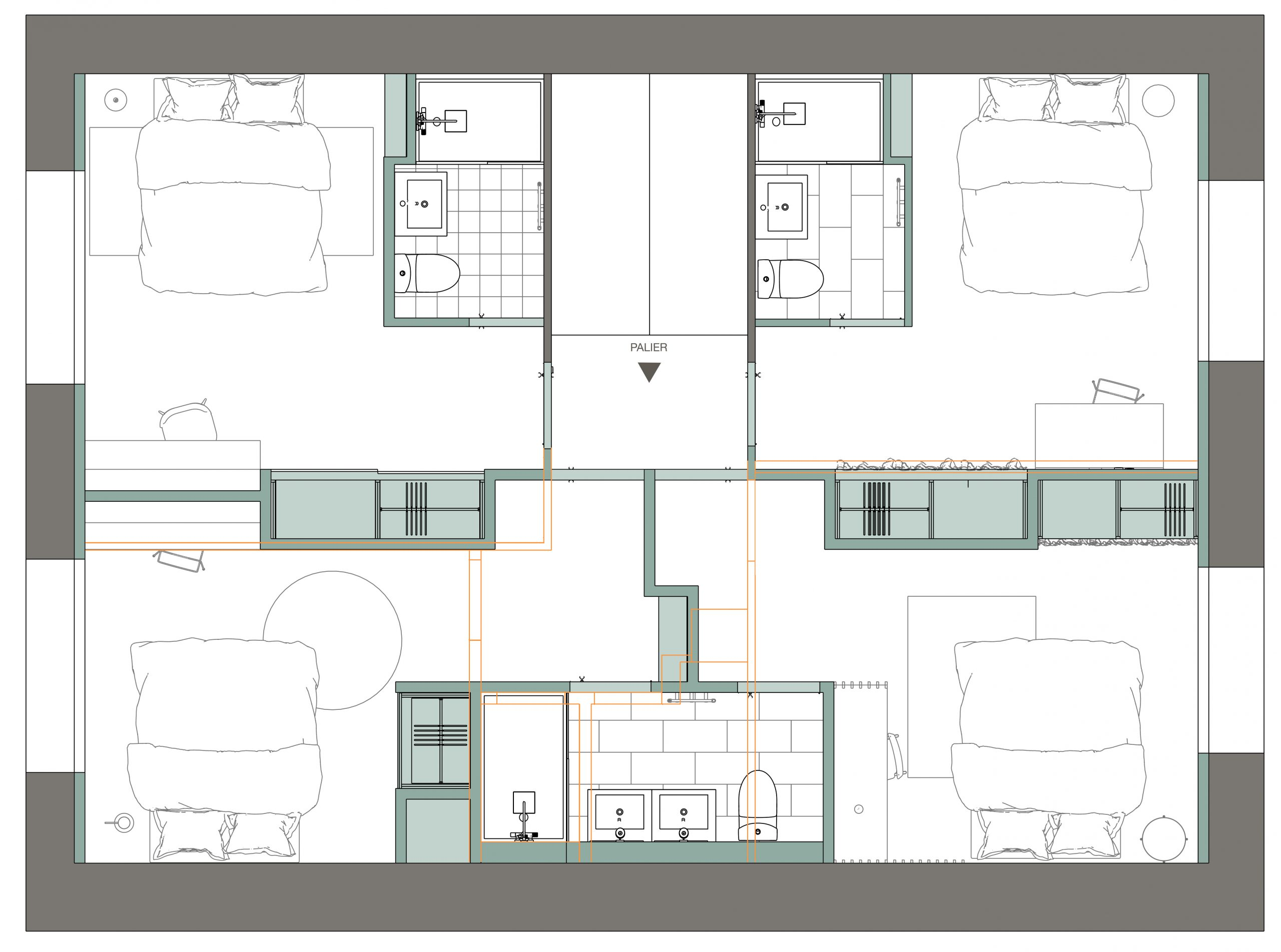 etage 1 : plan apres