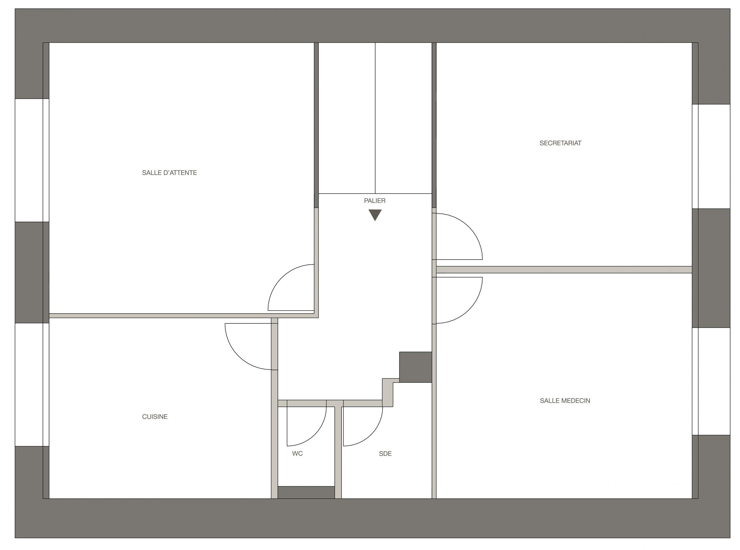 étage 1 : plan avant
