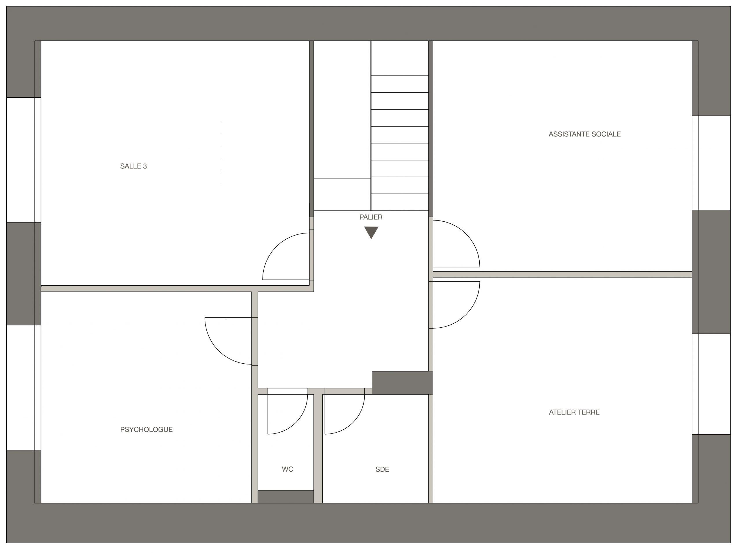 étage 2 : plan avant
