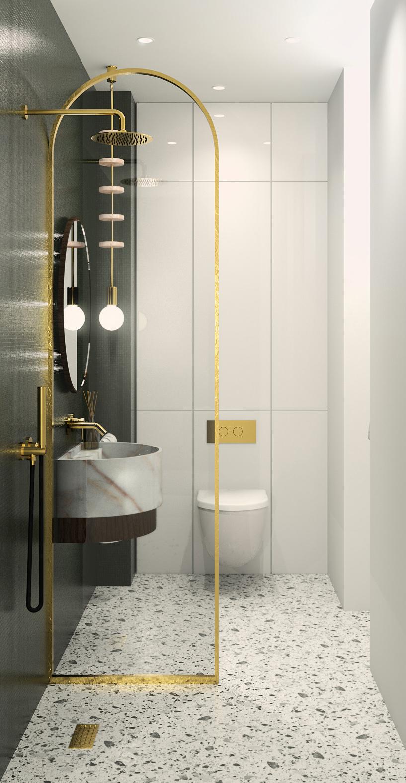 rangement d'une petite salle de bain optimisé