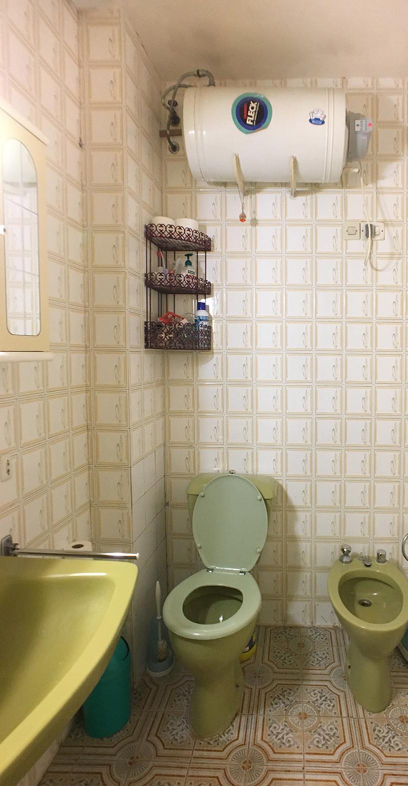 toilette et wc avant les travaux de décoration