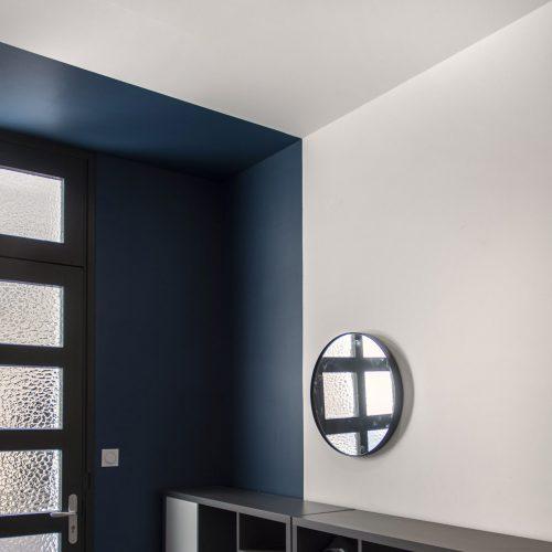 entrée decoration peinture bleue